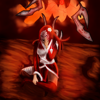 Almost Bloodmoon Irelia by spiritfoxhound