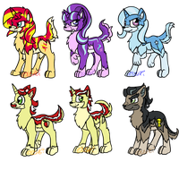 My Little Wolf- Pony Antagonists by Usagi-Zakura