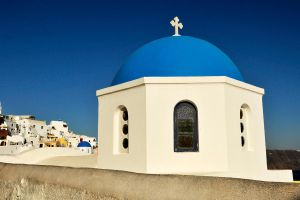Blue dome 1 - Santorini by wildplaces