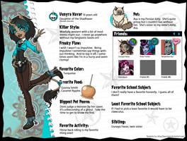 Monster High OC Sheet Uunyra Havar by Odyrah