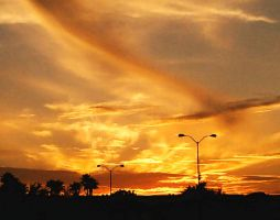 Sunset Over Park And Ride by ErinM2000