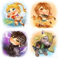 Chibi Commissions: Batch 1 by f-wd