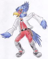 Falco looks quite happy by kanineious