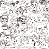 Lots of faces by KingCheddarXVII