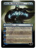 Jace, the Mind Sculptor painted Mtg alter 2 by iplaythisgame