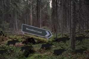 Shadow moose on pilgrimage by Fogrotten
