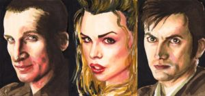 Dr. Who sketch cards by AllisonSohn