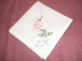 Hand Embroidered Handkerchief by Romaji