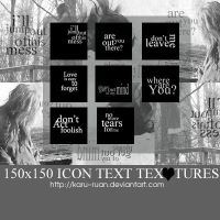 Icon Text Textures _1 by karu-ruan