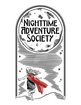 Nighttime Adventure Society T-Shirt by protoPrimus