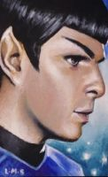 Spock profile ACEO by sullen-skrewt