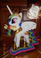 Princess Celestia and Letter by agatrix