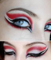 make-up red black white by Dead-Rose-16