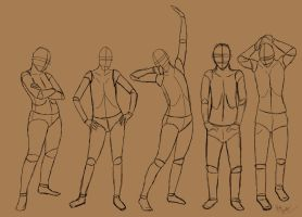 Standing poses by Orlilu