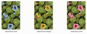 Nasturtium Backgrounds by Bluewyrm