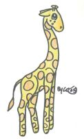 Cute Art-Giraffe by sassyfrazzy