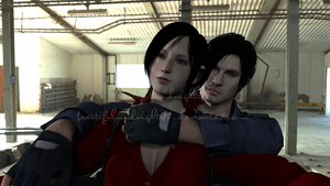Ada and Leon by beautifulmidnight42