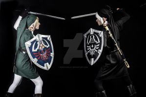 Link vs. Dark Link by NikkiCosplay