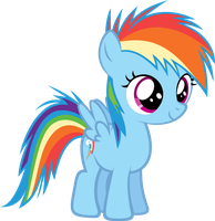 Filly Rainbow Dash by Zacatron94