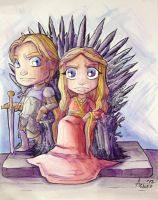 Jaime and Cersei Lannister by AgnesGarbowska