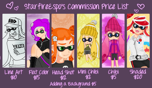 Splatoon Commission Price Guide by StarfireEspo