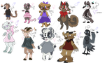 Non-Robotic Fnaf Adoptables by ghostiibear