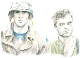Captain America and Bucky Barnes by Snowboardleopard
