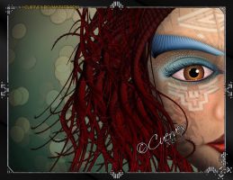 Tribal Face by Cuervex
