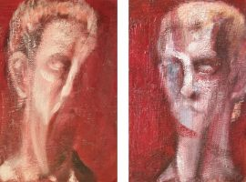 Two Head Studies after Bust of Caligula (diptych) by RyckRudd
