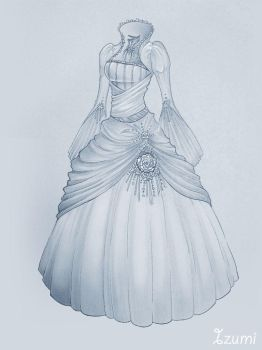 Wedding dress by Izumik