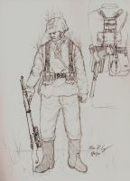 WWII German sniper by warman707