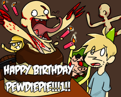 Surprise PewDiePie!!! by NSYee36