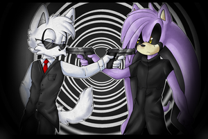 .:ContestEntry2:. Farren Vs. Gaze : Gun Fight by Night-Wolf122