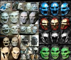 Avenger Helmets: Start to Finish by Uratz-Studios
