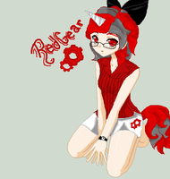 RedGear (as a human) by MonsterNiccals
