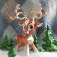Kitsch Deer by Christina-Patterson