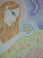 Pisces birthday card by ChaoticatCreations