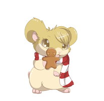 Gingerbread Hamster by MBPanther