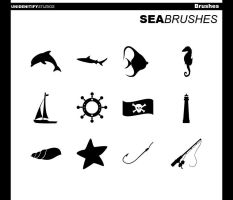 12 Sea Brushes for Photoshop by UnidentifyStudios