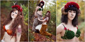 Autumn Fauns by Zarsu