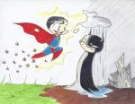 Batman and Superman by Spazzin-out