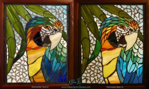Catalina Macaw Mosaic Final by Dreamspirit