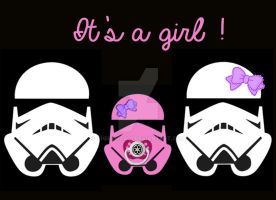 Stormtroopers Birth Announcement (Girl) by Thelema001