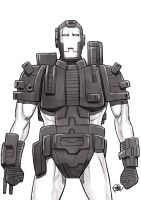 Daily Sketches War machine by fedde