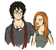 Harry and Ginny by MioneBookworm