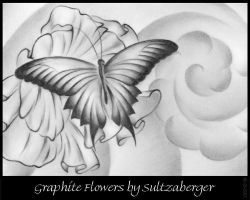 Graphite Flower 06-26-07 by Sultzaberger