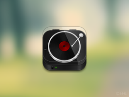 Record Player Icon by EdLewis