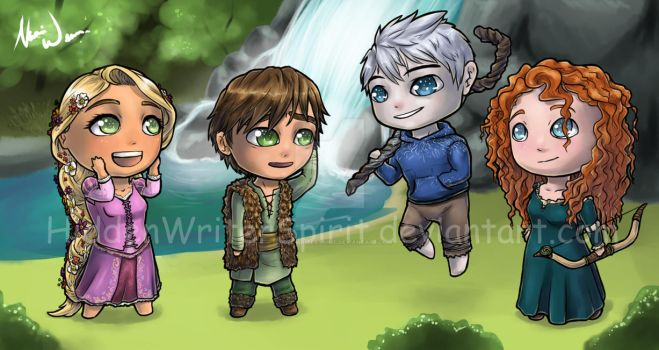 Commission: Big Four Chibis by hiddenwriterspirit