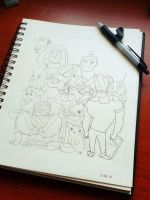 Cartoon overload by Ageen