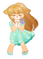 Commission: Mairin Pagedoll- Forget-Me-Not by Xecax